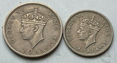 Southern  Rhodesia 6 Pence 1947 & 3 Pence 1947