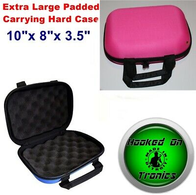 """Pink 10"""" × 8"""" XL Padded Pouch Hard Carry Protective Case glass Pipes & More New"""