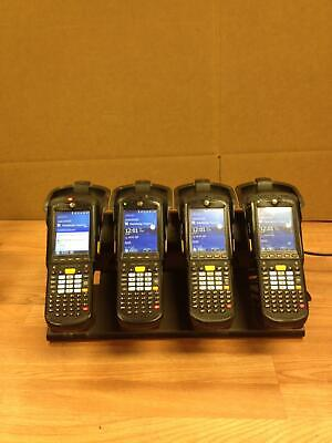 SET OF 4 Zebra Motorola Symbol MC9500 MC9596-KDAEAB00100 Scanner w/Charger/QTY