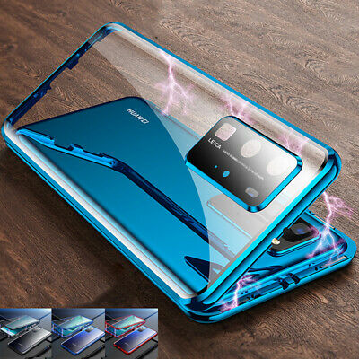 360° Full Glass Double sided Glass Magnetic Cover Case for Huawei P40 Pro P30