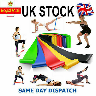 Resistance Bands Exercise Sports Loop Fitness Home Gym Yoga Latex Set Or Single