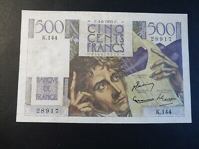 Ancien  Billet France - 500 Frs  Chateaubriand - 04/06/1953   Ttb  - Promo !!