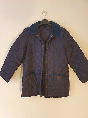 Barbour Childs Large Liddesdale Quilted Corduroy Classic Jacket Coat