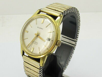 Vintage Elbro 25 Jewels Gent's Man's Automatic Wind Date Watch