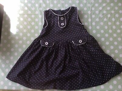 Next Navy And White Polka Dot Dress, Good Used Condition, Age 2-3 Years