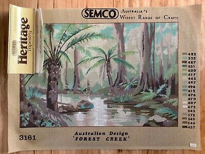 Sermco Tapestry canvas to be stitched - Aust Design 'Forest Creek'