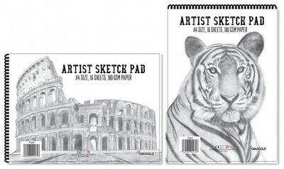 A4 A5 SPIRAL Sketch Pad Book 180GSM White Paper Artist Sketching Drawing Art