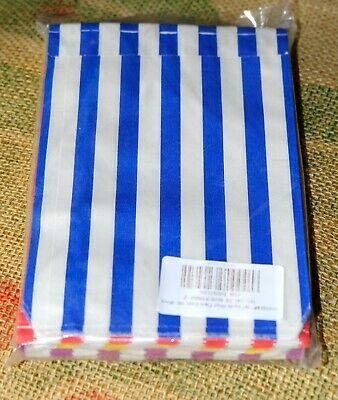"""100 5""""x7"""" 4 Colours Candy Stripe Paper Sweet Gift Shop Kraft Party 4 x 25 Bags"""