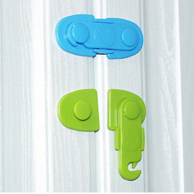ABS Secure Door Lock Latch Child Protection Anti Pinch Drawer Cupboard Catch MH