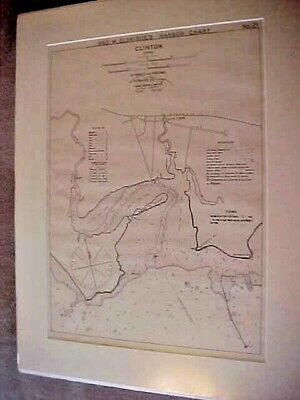 CLINTON, CONN.  Geo. Eldridge harbor chart, No. 21, 1897, matted and clean