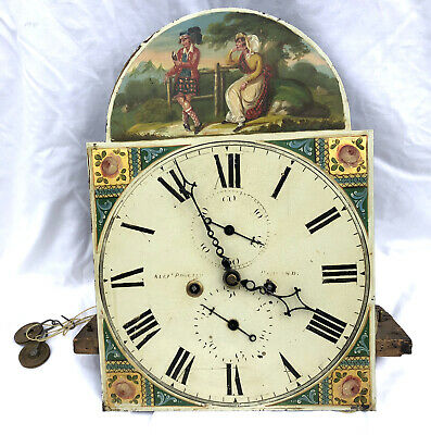 "Antique 12 "" Longcase Grandfather Clock Dial & Movement 8 day PROCTER TARLAND"