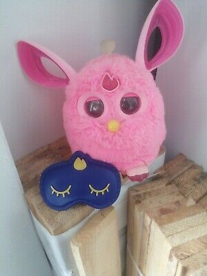 Pink Furby Connect Bluetooth smart with sleep mask ,works perfectly fine