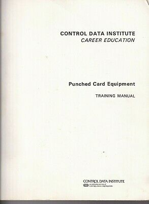Control Data Corporation Punched Card Equipment Training Manual