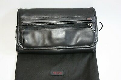 Tumi Roll Shave/Toiletry Kit Hanging Leather Black 92192D4