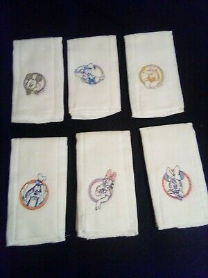 Burp Cloths, Disney Theme, Lot Of 6. New