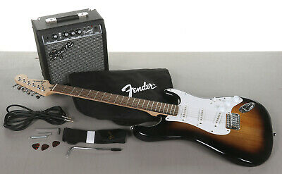 Squier Stratocaster Pack Electric Guitar w/ Amp - No Output from Amp