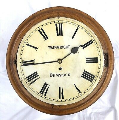 Antique Oak Winterhalder Hofmeier Fusee Wall Clock WAINWRIGHT ORMSKIRK : RESTORE