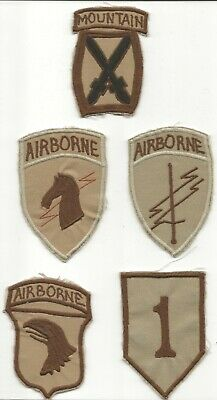 Five Turkish Made Subdued Style US Army Shoulder Sleeve Insignia Sold As A Lot