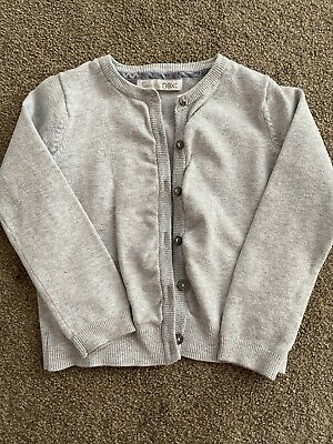Girls Next Grey With Glitter Detail Cardigan Age 4 Years Good Con