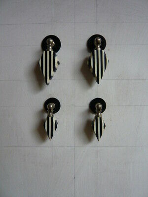 Two Pairs small Art Deco Cabinet / Drawer Pull Handles