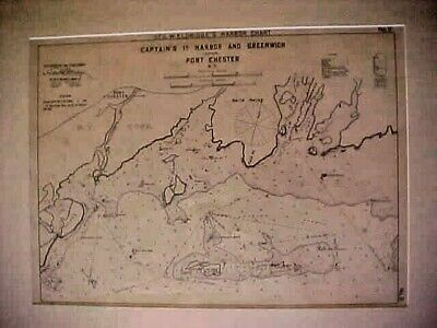 CAPTAINS Id. HARBOR & GREENWICH & PORT CHESTER N.YGeo. Eldridge's harbor chart,