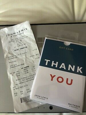 John Lewis Gift Card/Voucher - £73.80 Redeemed Online And In Stores