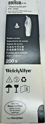 200 Welch Allyn Braun ThermoScan Thermometer Lens Probe Covers Filters - PC200