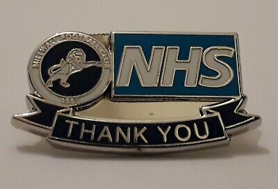 Millwall Football Club Badge - Enamel Pin Badges / Memorabilia & NHS Donation