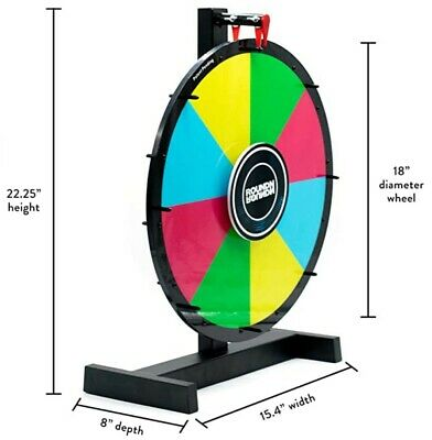 "Prize Wheel | Reversible 2 Sided | 18"" Inch Spinning Prize Wheel Tradeshow"