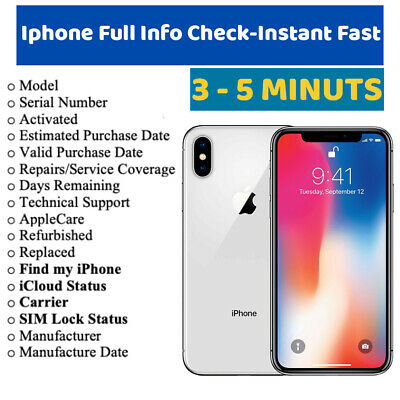 🔥FAST iPhone info Check - IMEI / Simlock / Carrier /Find My Iphone /iCloud St ⚡