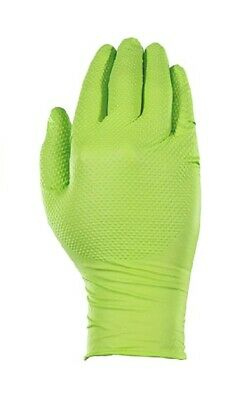 AMMEX Gloveworks Green Nitrile Gloves, Texture Grip, Box of 100, Large