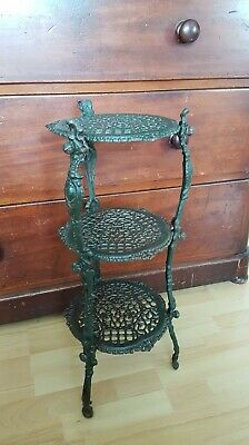 Cast Iron Vintage Pot Plant Stand 3 Tiers See Pics