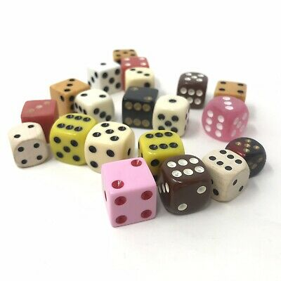 Vintage  Dice Lot Collectible Gambling Poker Dice - Lot Of 20