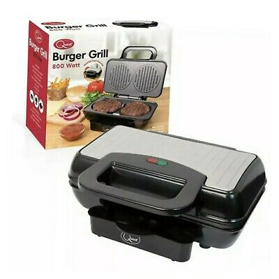Quest Brand New Twin Home Made Burger Grill Machine 800 W