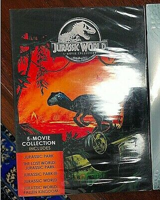 Jurassic World: 5-Movie Collection (DVD-2018, 5-Disc) Sealed, Free&Fast Ship