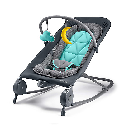 Baby Bouncer Rocker Soothing Vibrations, Removable Toys and Safe to Travel