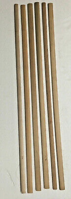 6 - New Wooden Clock Pendulum Rods For Parts
