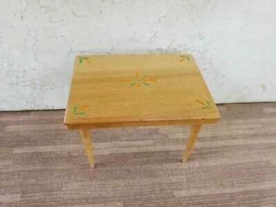 Vintage Dollhouse Miniature Furniture Handcrafted Wood Kitchen/Work Table