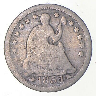 5c **1/2 Dime HALF** 1854 Seated Liberty Half Dime Early American Type Coin *245