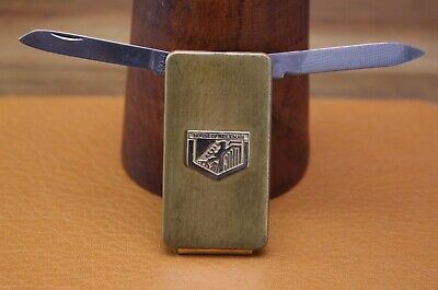 "Vintage ""House Of Heileman Beer Brewing Co."" Duel Pocket Knife Money Clip Combo"