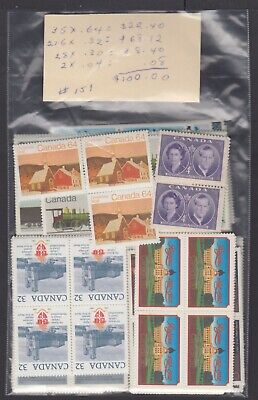Canada Mint Postage Lot $100.00 Mnh Face For $70.00 See List #151