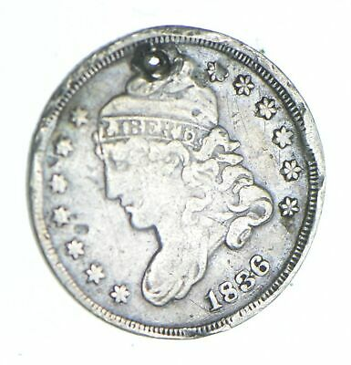1836 Capped Bust Half Dime - Holed Coin Collection *826
