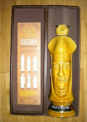 Old Crow Whiskey Chess Piece Bishop In Box