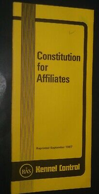 AKC American Kennel Club Booklet Constitution for Affiliates Sept 1987