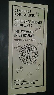AKC American Kennel Club Booklet Obedience Regulations Oct 2000