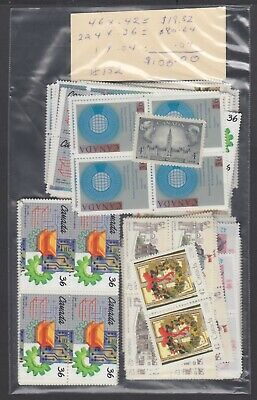 Canada Mint Postage Lot $100.00 Mnh Face For $70.00 See List #152
