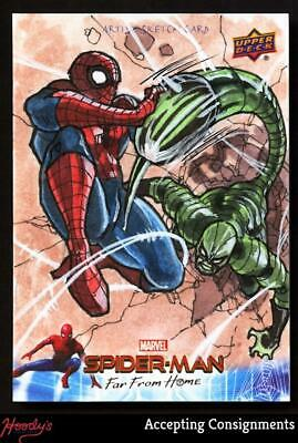 2019 Upper Deck Spider-Man Far From Home Sketch Card by Adrian Biblanias
