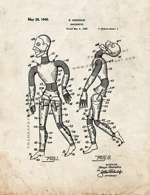 Marionette Patent Print Old Look