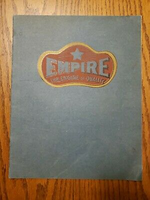Empire Line Hit and Miss Gas Engine Catalog Cream Separator Original