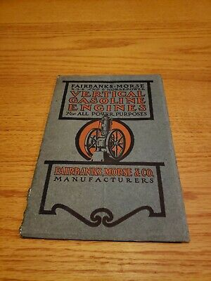 Fairbanks Vertical Gasoline Engines Catalog Original